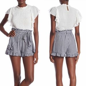 NWT Dance & Marvel Gingham Tiered Ruffle Shorts